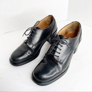 Vintage Aldo Y2K 90s lace up loafers black leather